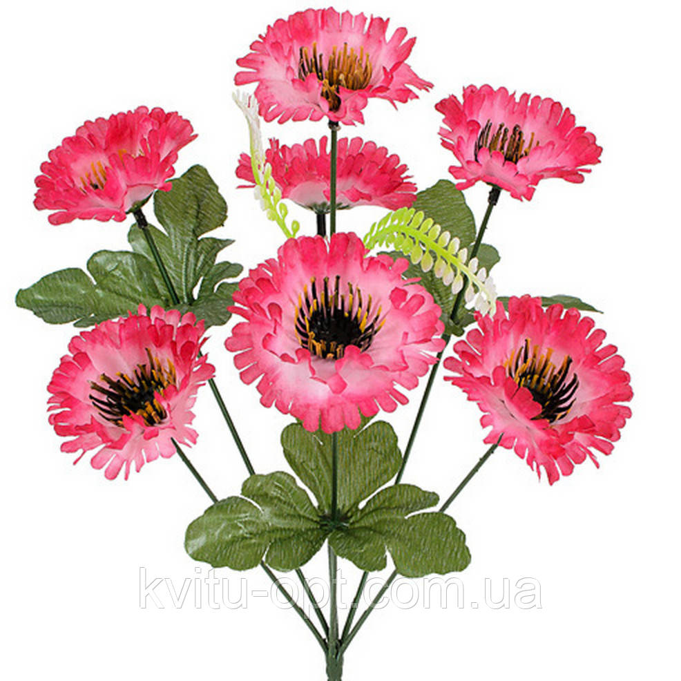Искусственные цветы букет маргариток, 35см(20 шт в уп)