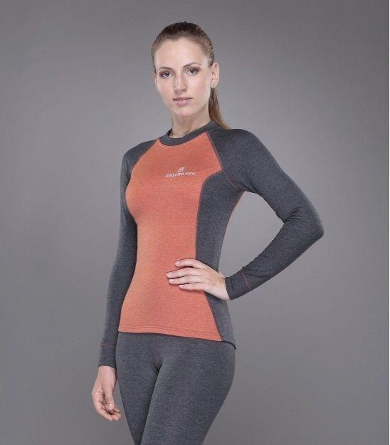 Жіноча футболка Tramp TRUL-006T-grey-M Outdoor Tracking Lady з довгим рукавом Gray/Orange