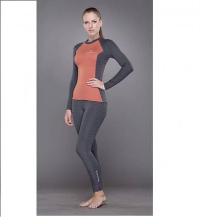 Женская футболка Tramp TRUL-006T-grey-M Outdoor Tracking Lady с длинным рукавом Gray/Orange, фото 2