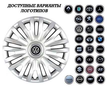 """Колпаки SJS (Турция), 16"""" 412 VW (к-т 4 шт) + эмблема на выбор"""
