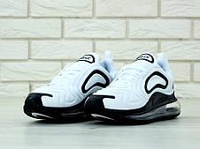 Чоловічі кросівки в стилі Nike Air Max 720 White/Black, фото 2