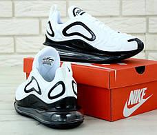 Чоловічі кросівки в стилі Nike Air Max 720 White/Black, фото 3