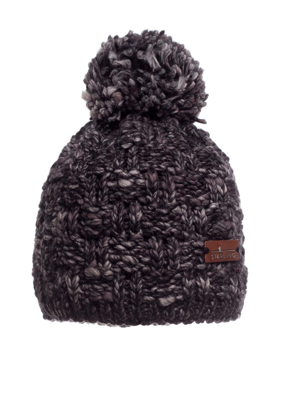 Стильная, удобная и практичная красиво связанная женская шапка, Польша.