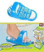 Массажные тапочки для душа с пемзой Easy Feet Изи Фит