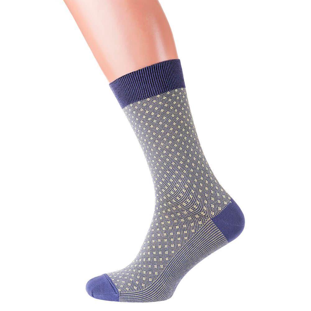 Шкарпетки чоловічі кольорові з бавовни, салатова сітка