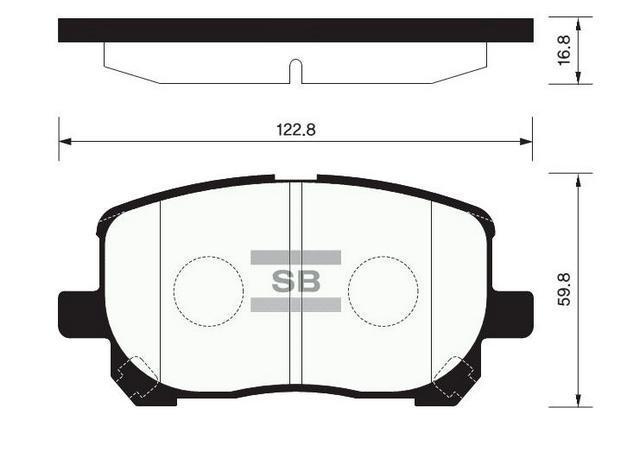 Колодки передние тормозные Avensis/Matrix, Hi-Q (SP1373)