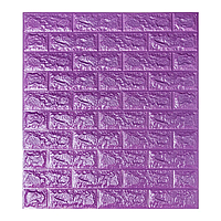 Декоративні миються 3D панелі для стін під цеглу Фіолетовий 700х770х7мм