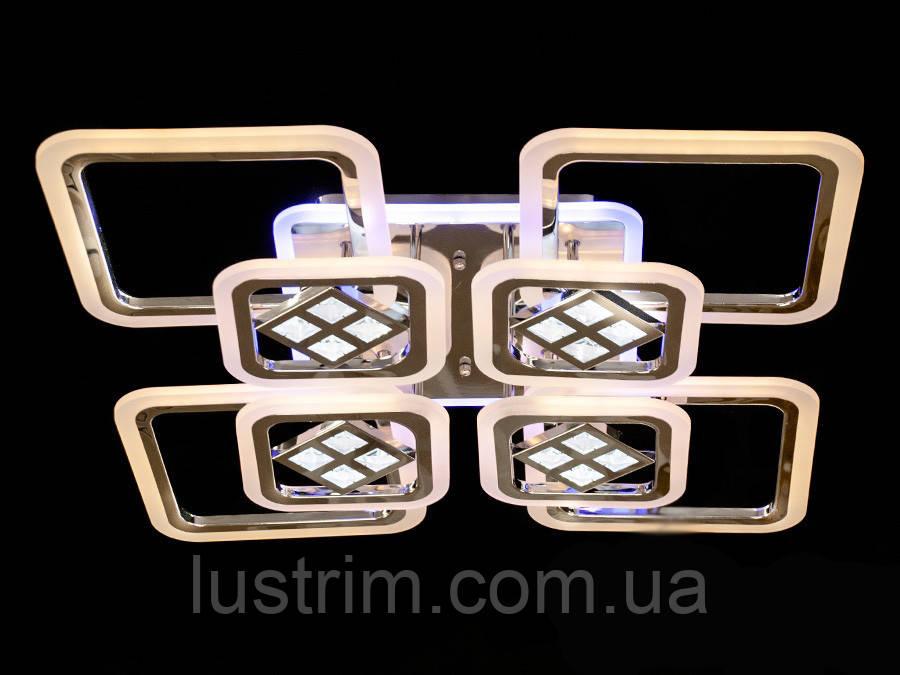 Светодиодная LED люстра с диммером и подсветкой 190W