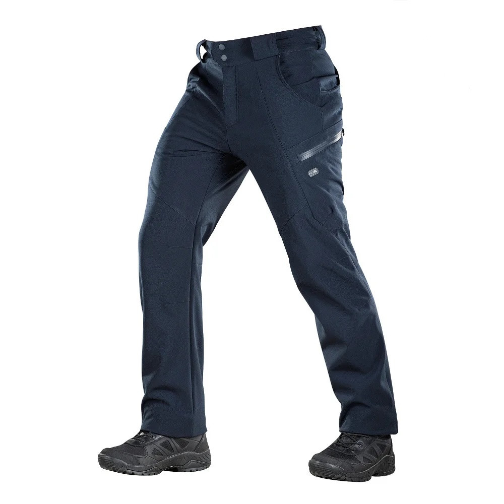 M-Tac брюки Soft Shell Winter Dark Navy Blue софтшел