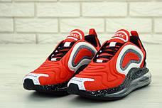 Мужские кроссовки в стиле Nike Air Max 720 Orange/Black/White, фото 3