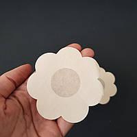 Наклейки на грудь одноразовые ромашка бежевые - 419-08-3