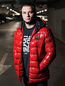 Чоловіча зимова куртка, Red. Size S / M