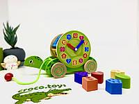 Развивающая деревянная игрушка черепаха сортёр. Игрушка-каталка. Монтессори. Уникуб