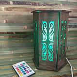 """Декоративный светильник """"Винтаж"""" дерево фанера венге, фото 5"""