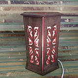"""Декоративный светильник """"Винтаж"""" дерево фанера венге, фото 4"""