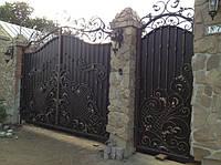 Ворота с фонарями