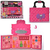 Игровой набор детская косметика 77030 - сумочка косметичка, маникюрный набор, декоративная косметика