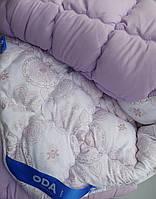 Полуторное одеяло зимнее 145х210 ОДА холлофайбер -микрофибра разные цвета