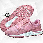 Женские кроссовки в стиле Adidas ZX 500 Pink розовые