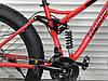 ✅Велосипед Двопідвісний Фэтбайк TopRider 620 Fat Bike 26 дюймів колеса 4.0. Червоний, фото 6