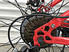 ✅Велосипед Двопідвісний Фэтбайк TopRider 620 Fat Bike 26 дюймів колеса 4.0. Червоний, фото 5
