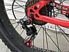 ✅Велосипед Двопідвісний Фэтбайк TopRider 620 Fat Bike 26 дюймів колеса 4.0. Червоний, фото 7