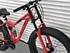 ✅Велосипед Двопідвісний Фэтбайк TopRider 620 Fat Bike 26 дюймів колеса 4.0. Червоний, фото 2