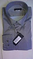 Стильная Мужская рубашка DERGI приталенная с длинным рукавом  код special 6226-1