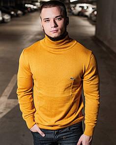Мужская кофта гольф Lacoste Yellow