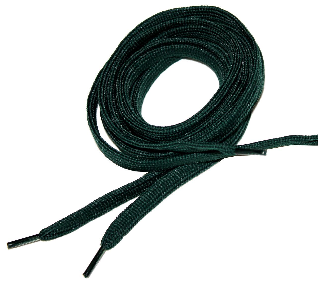 Шнурки в кроссовки плоские 100см Зеленый