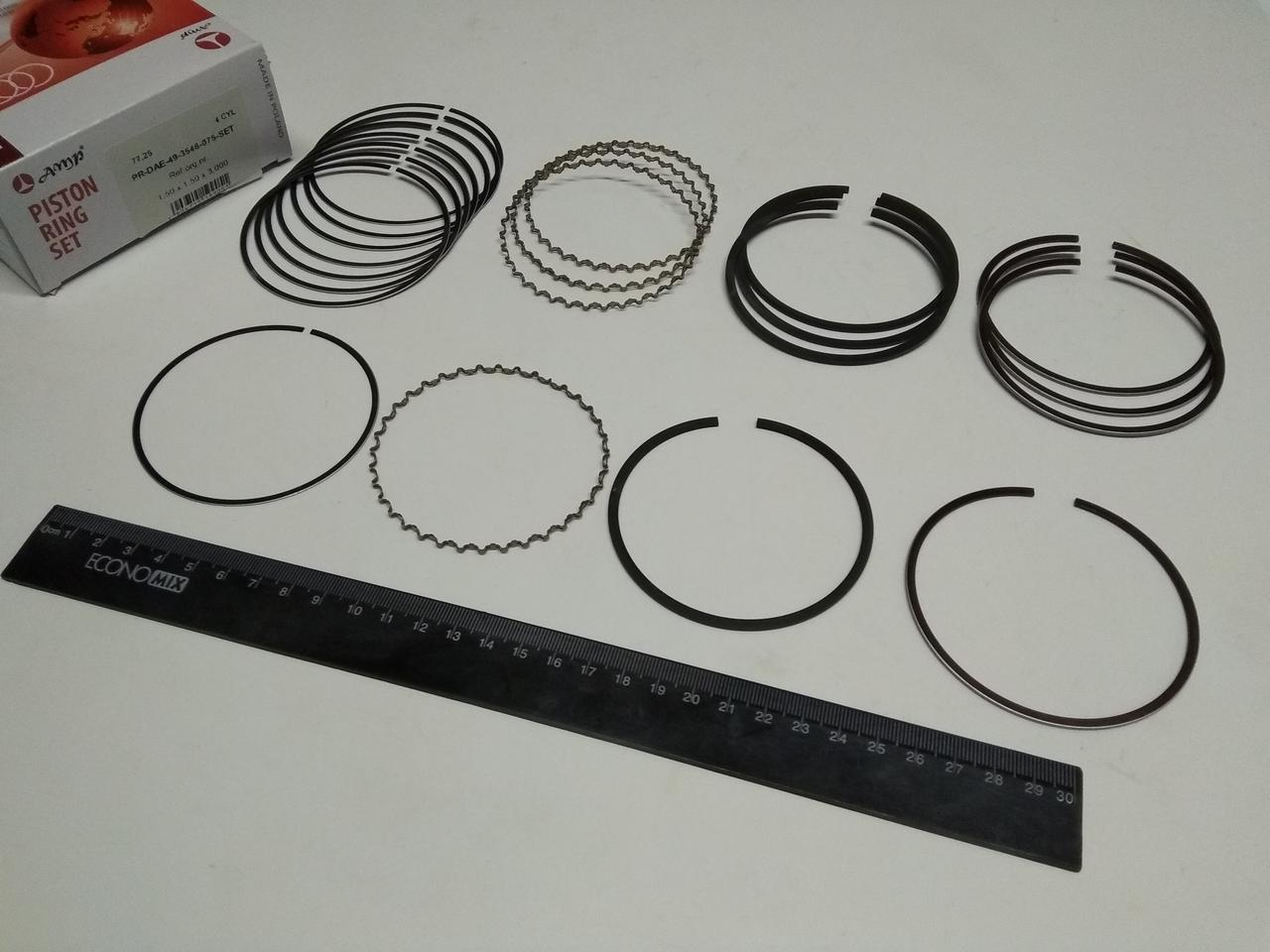 Кольца AMP  Lanos 1.5 77,25 3-й ремонт (PR-DAE-49-3548-075)