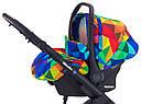 Автокресло Adamex Kite Y123 разноцветный калейдоскоп, фото 3