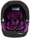 Автокресло Bair Kappa 0+ (0-13 кг) DK 1824 черный - фиолетовый, фото 3