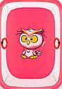 Манеж Qvatro Сонечко-02 дрібна сітка рожевий (owl), фото 2