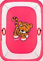 Манеж Qvatro LUX-02 дрібна сітка рожевий (tiger), фото 2