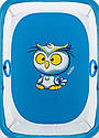 Манеж Qvatro Солнышко-02 мелкая сетка синий (owl), фото 2