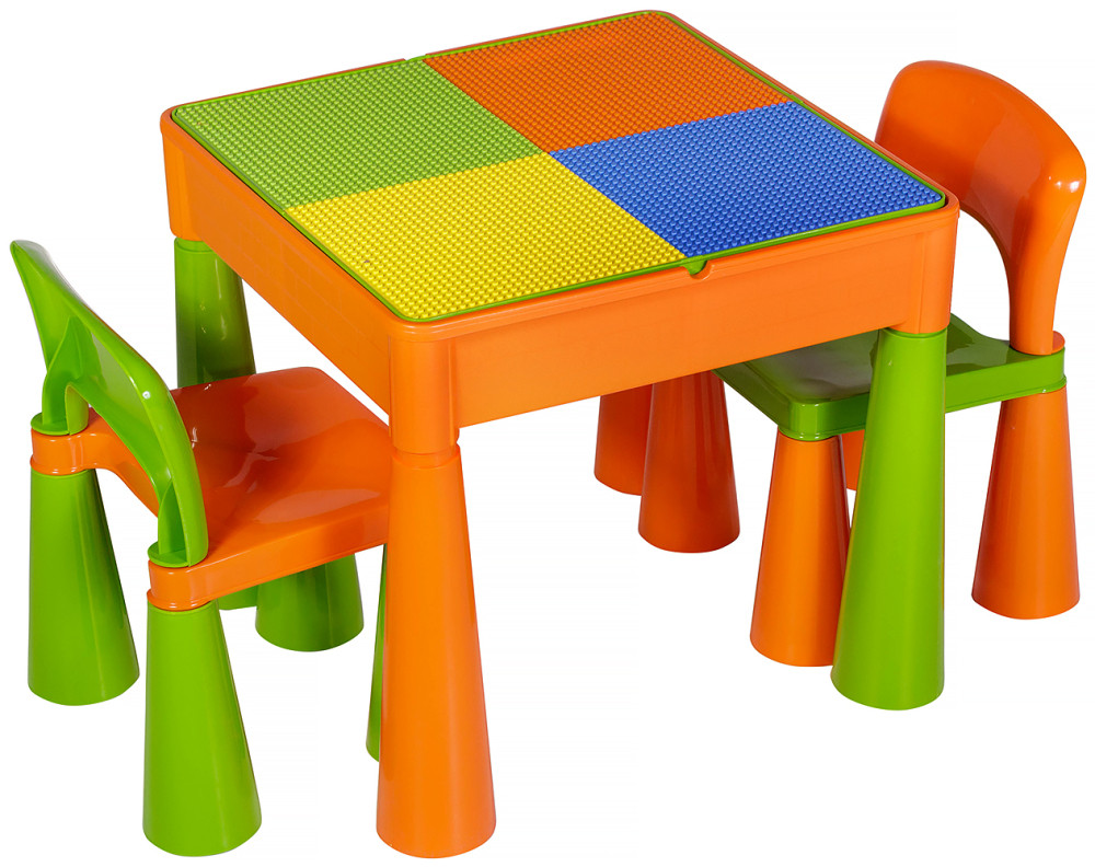 Стіл і 2 стільчика Tega Mamut 899G orange-green