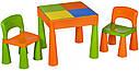 Стіл і 2 стільчика Tega Mamut 899G orange-green, фото 2