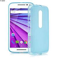 Чехол накладка для Motorola Moto G3 голубой, фото 1