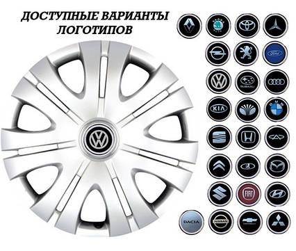 """Колпаки SJS (Турция), 16"""" 408 Тойота (к-т 4 шт) + эмблема на выбор"""