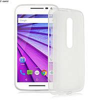 Чохол накладка для Motorola Moto G3 білий, фото 1