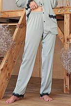 Женские пижамные штаны с кружевом оливкового цвета Долорес