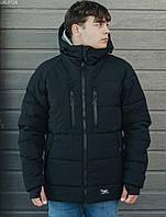 Зимняя куртка с капюшоном мужская Staff heat black, фото 1