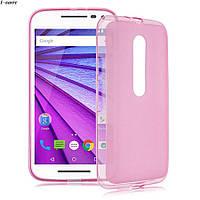 Чохол накладка для Motorola Moto G3 рожевий, фото 1
