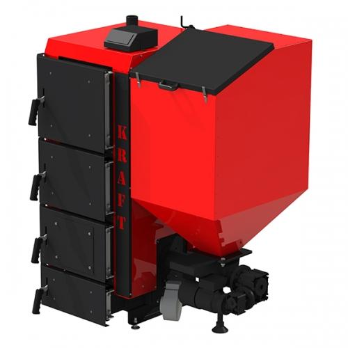 Пелетний котел Kraft R 75 кВт з польської пальником ретортного типу і автоматичною подачею палива