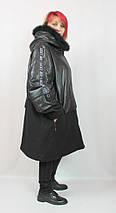 Курка-пальто з хутром супер великі розміри AY-Sel (Туреччина) рр 66-72, фото 3