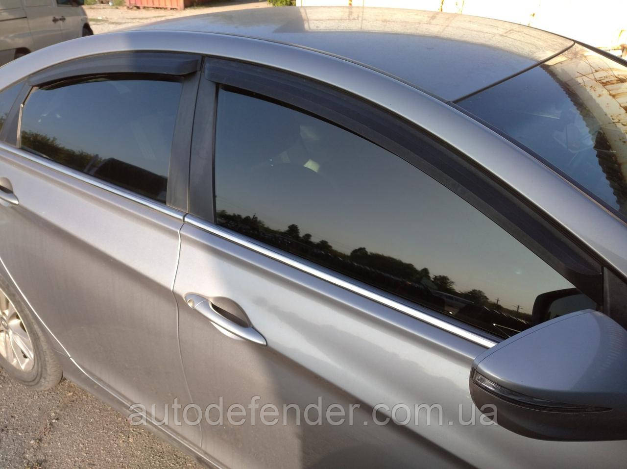 Дефлекторы окон (ветровики) Hyundai Sonata LF sedan 2014-, Cobra Tuning - VL, H25917