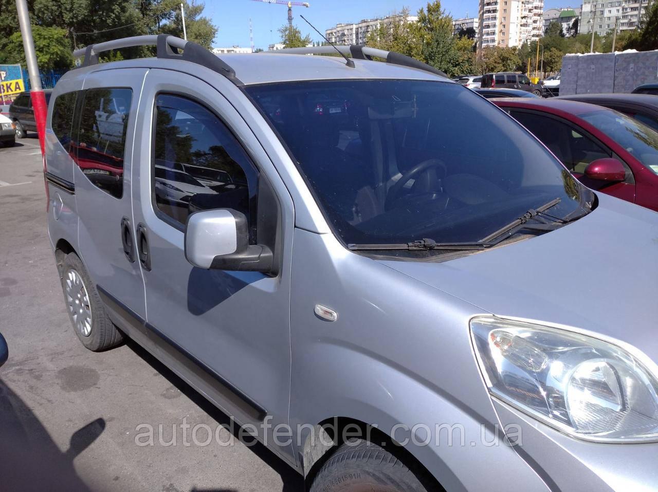 Дефлекторы окон (вставные!) ветровики Fiat Fiorino 2008- 2шт., HEKO, 15160