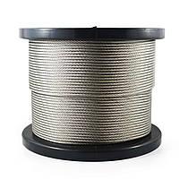 Трос 4,0 mm (6x7+FC) оцинкований DIN 3055