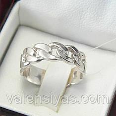 Серебряное кольцо плетеное без камней